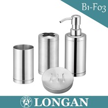 Stainless steel Bathroom accessories - Lotion pump, Tubmler, Soap dish, Toiletbrush holder, Bath can