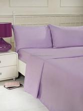 lilac color 100% polyester microfiber plain dyed cheap bed sheet set bedding set