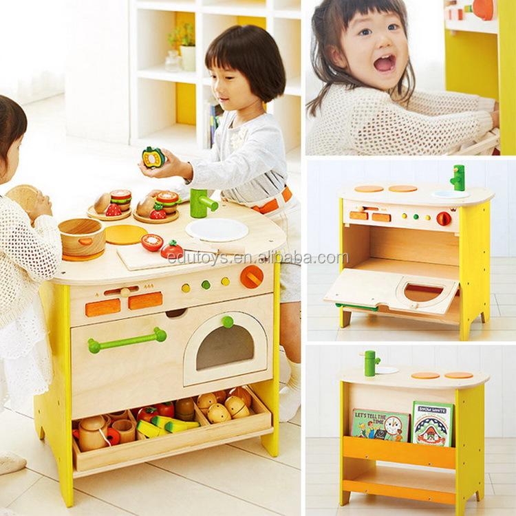 baru pulau dapur mainan kayu