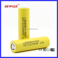 Hot!!!High quality LG He4 18650 2500mah 30amp max discharge current li-ion battery us18650v