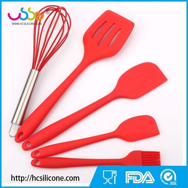 5 pcs Premium Silicone Cuisson Cuisine Ustensile de cuisine Ensemble