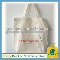 eco friendly natural recycled cotton canvas tote bag