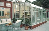 Flat sunroom glass en12150 tempered glass/toughened glass