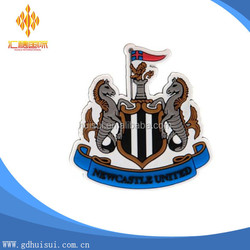 custom newcastle united pvc rubber fridge magnet