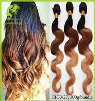 Ombre Brazilian Hair 3 Tone, Brazilian Hair Three Tone, 3 Tone Hair Color