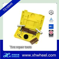 Vehicle Hand Cart Wheel Tire Patch Road Side Emergency Repair Tool Kit