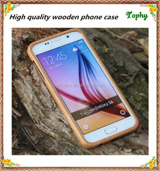 New mobile cover cell phone cases metal back wood funny mobile covers for samsung s6