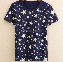 fashionable cute logo design short sleeve cheap t shirt factory