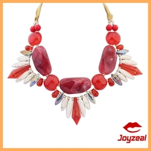 2015 Summer New Arrival Natural Pattern Acrylic Stone Necklace