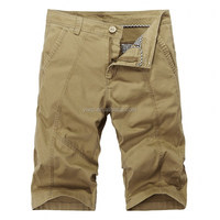 khaki cargo; shorts men;bermuda cargo fashion short