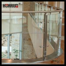 Escalier main courante balustrade pour sans cadre verre