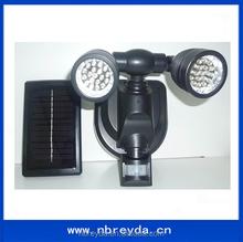 Solar Powered Motion Sensor Hallway Light with Dual Head 19 LED