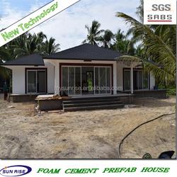 SGS 2015 new technology low cost foam concrete prefab house for sale