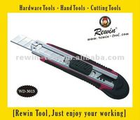 Plastic Rubber Handle Utility Cutter Knife