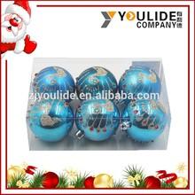 2015 New Decorative Hanging printing Christmas Ornament Various Designs Shatterproof 6 cm/8cm Christmas Tree Balls