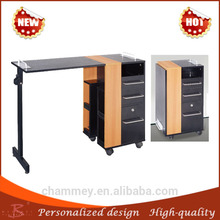 lustrous soft and antislippery massage cosmetic desk india,wooden manicure equipment nail table customized