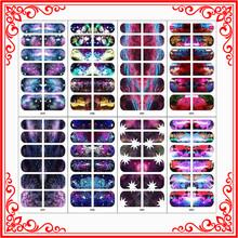 X0484-X0491 Sparkling Star Custom Nail Art Sticker Decals Nail Art Designs