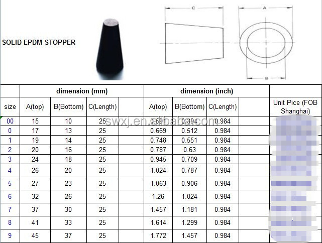 Usa standard rubber stoppers for lab bottle for test tube buy