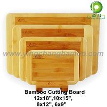 High Quality Natural bamboo chopping board set