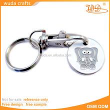 high quality soft enamel elephant shape chain with buckle