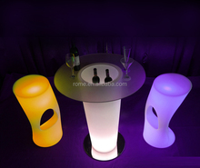 low price color changing Plastic Led Bar Table/Led Bar Counter