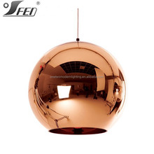 Hot selling Glass chandelier Tom Dixon Copper light lamp ceiling pendant