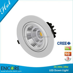 SAA C-tick Round LED Downlight Ideal for Clothing Shopping Mall