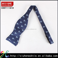 100% Polyester Woven Patterned New Navy Bow Tie Sail Boat