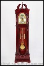 Antique Wood Grandfather Clock With German Mechanical Movement Floor clocks