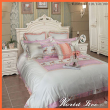 WLB082 Dreamlike White and Pink Horses Cotton Bedding Set