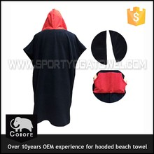 Absorbent terry beach personalized adult hooded towel