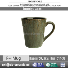 Wholesale low price high quality stoneware inside printed mug