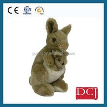 Plush stuffed animal toy kangaroo baby carry toy