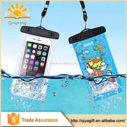 Custom plastic transparent pvc waterproof mobile phone bag