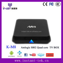 Android 4.2 8GB NAND FLASH Amlogic S802 core cheapest android smart tv box