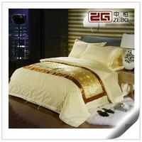 100% Cotton Colorful Jacquard Fabric Customized King Hotel Bedsheet