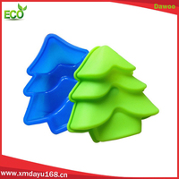 2015 hot sale bakeware silicone christmas tree shaped cake pans