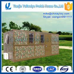 Useful prefab house can be folded for military use