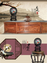 Chinese Feature Double Side Embroidery Lacquer Screen