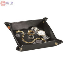 Leather Travel Valet Jewelry Tray Leather