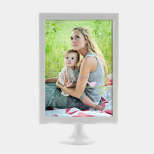 Small beautiful plastic table picture frames display stand
