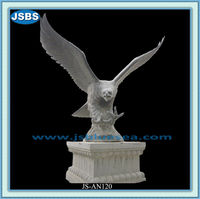 Decorative Outdoor White Marble Flying Large Eagle Statues
