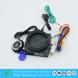 car alarm RFID Alarm With Push Start Button And Transponder Immobilizer System Car Engine Start Stop XY-902
