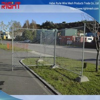 temporary fence post base / wire mesh fence / fence