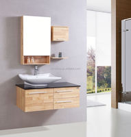 china supplier Modern free standing solid wood bathroom cabinet solid wood bathroom cabinet