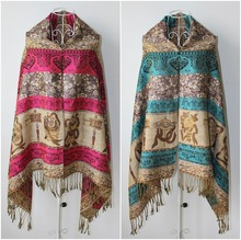 New Arrival Cheap High quality Ladies Thick Warm Poncho and Shawls
