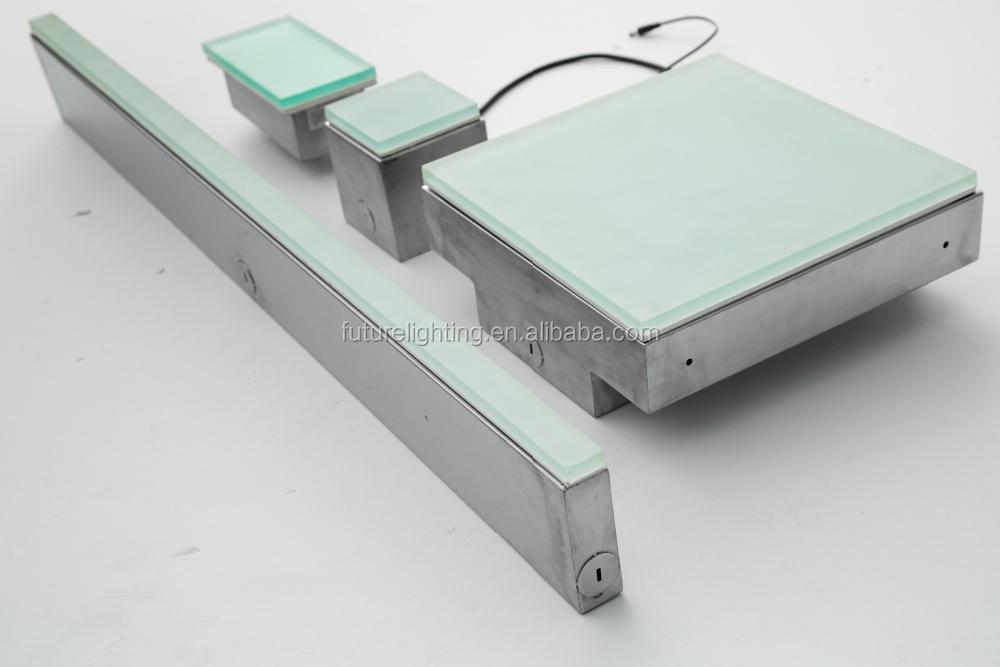 size customized led brick tile light
