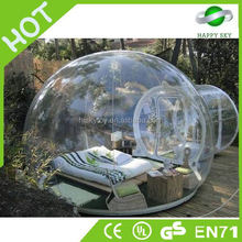 2015 durável e popular 0.8-1.0mm pvc/tpu bolha tenda, barraca de camping transparente, barraca inflável