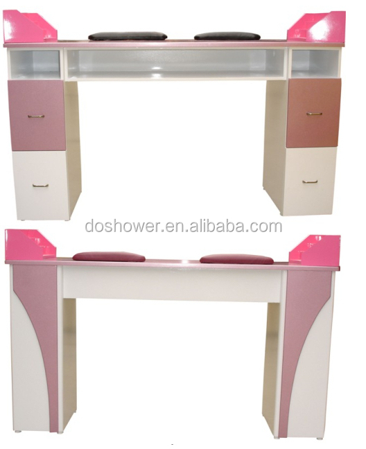 Wholesale modern design salon furniture ikea manicure table nail desks with d - Ikea tables de salon ...