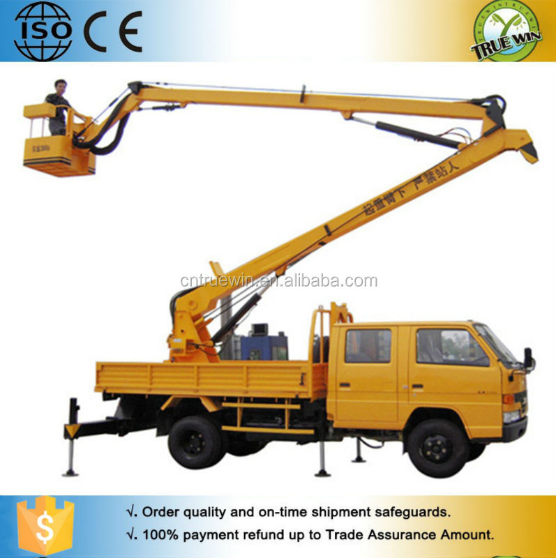 Hydraulic Boom Lifts For Pickups : M truck articulated hydraulic boom lift trailing